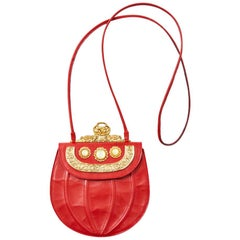 Ugo Correani Embellished Leather Shoulder Bag