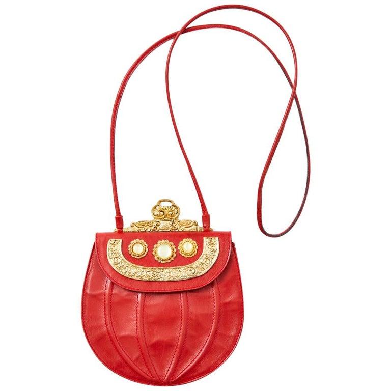 Ugo Correani Embellished Leather Shoulder Bag