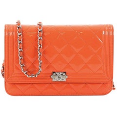 Chanel Boy Wallet on Chain Quilted Patent