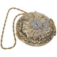Goldtone Judith Leiber Embellished Crossbody Bag