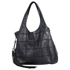 Black Chanel Leather Hobo Bag