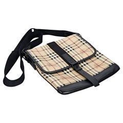 Multicolor Burberry Haymarket Check Messenger Bag