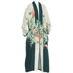 1940s Hand Silk-Screened Japanese Kimono