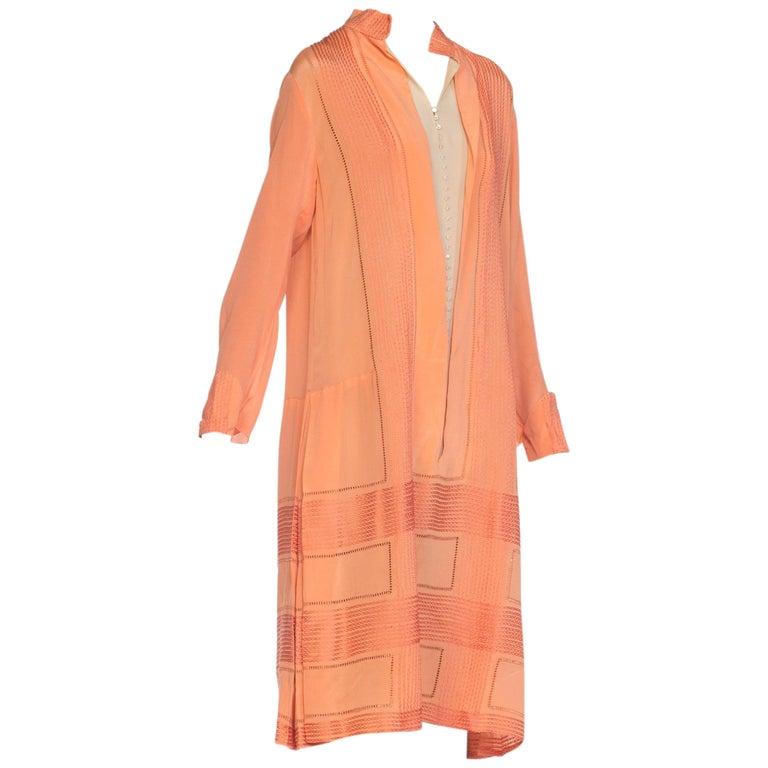 Lightweight Silk 1920s Flapper Art Deco Style Dress