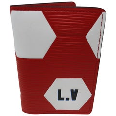 Louis Vuitton Red Pocket Organizer FIFA World Cup Collection