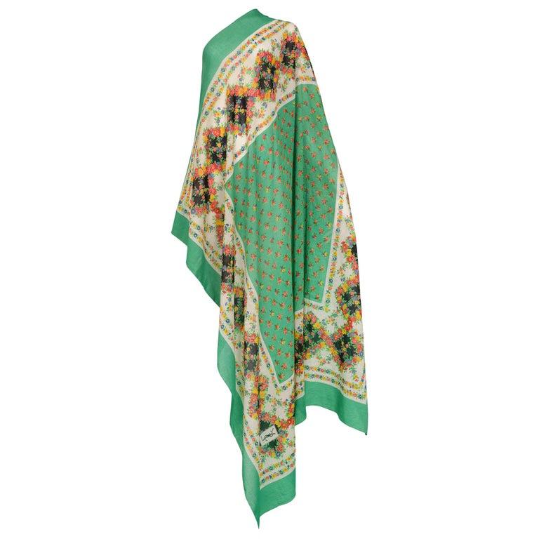 1c17968c9ea48 HomeFashionAccessoriesScarves. Vintage Yves Saint Laurent 1970s Large  Floral Scarf For Sale