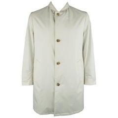 Men's LORO PIANA M Khaki Polyester Blend Cashmere Lined Car Coat