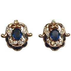 40s Sterling Trifari Earrings