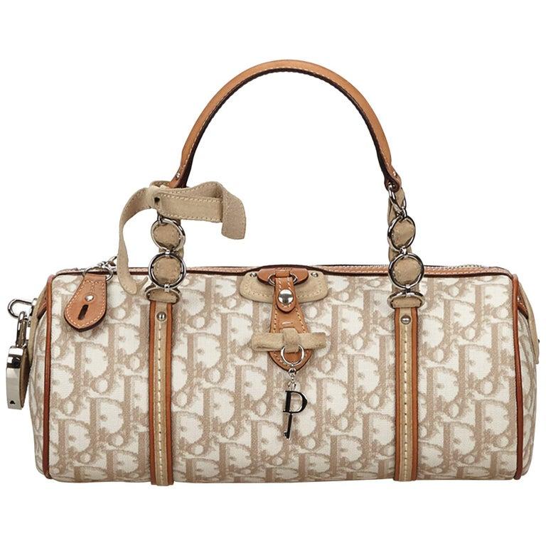 043a3236d93f Dior Brown x Beige x Multi Oblique Romantique Handbag at 1stdibs