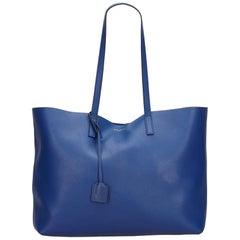 YSL Blue Large Shopper Tote