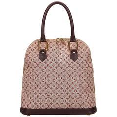Louis Vuitton Pink and Brown Mini Lin Alma Haut Bag