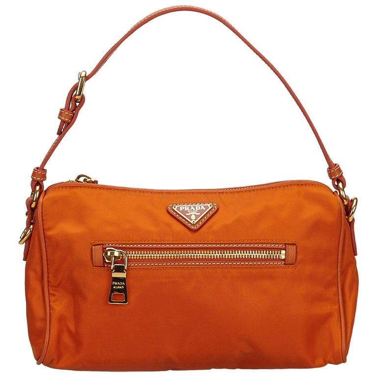 9d2f60b3f7f6 Prada Orange Nylon Baguette at 1stdibs