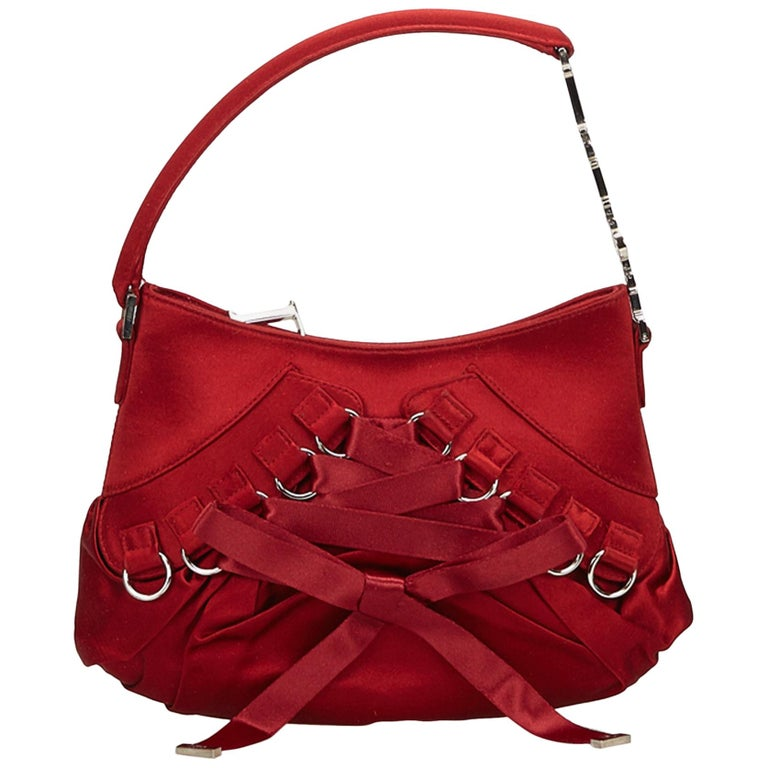 4f3c09b3 Dior Red Satin Ballet Handbag
