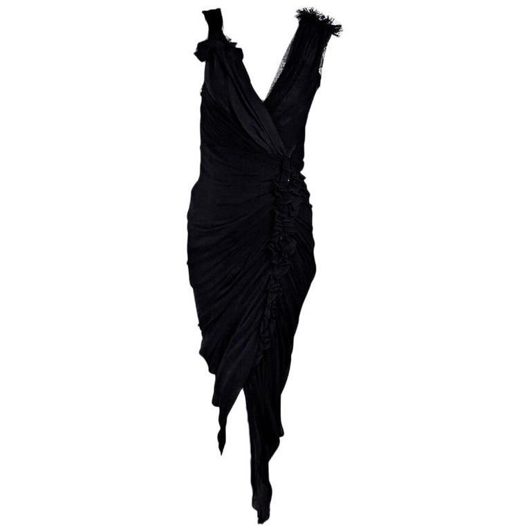 Black 3.1 Phillip Lim Silk & Lace Dress
