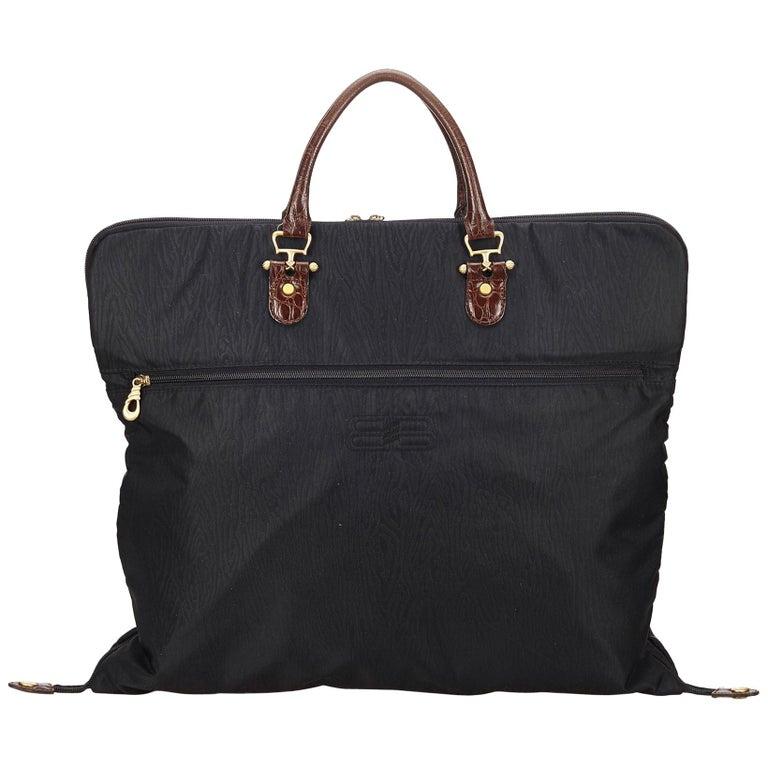 687ec6ab92 Balenciaga Black x Brown Nylon Garment Bag For Sale at 1stdibs