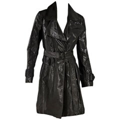 Dark Grey Burberry Metallic Trench Coat