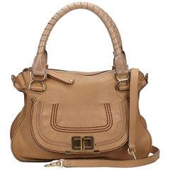 Chloe Brown x Beige Leather Marcie