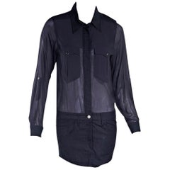 Navy Blue Isabel Marant Denim-Skirt Dress