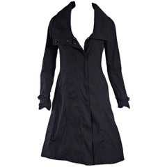 Black Burberry London Hooded Trench Coat