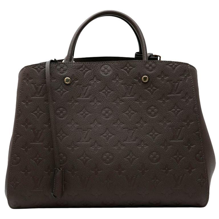 LOUIS VUITTON 'Montaigne GM' Bag in Monogram Empreinte Earth-Tone Leather