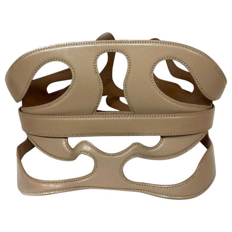 Alexander McQueen Nude Leather Corset Belt