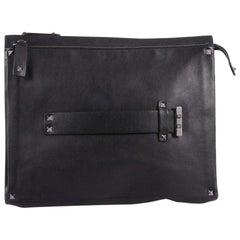 Valentino Rockstud Trim Pouch Leather Medium
