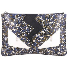Fendi Monster Pouch Printed Leather Medium