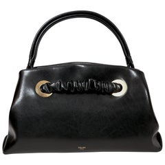 Celine By Phoebe Philo black leather runway bag with eyelets, 2018
