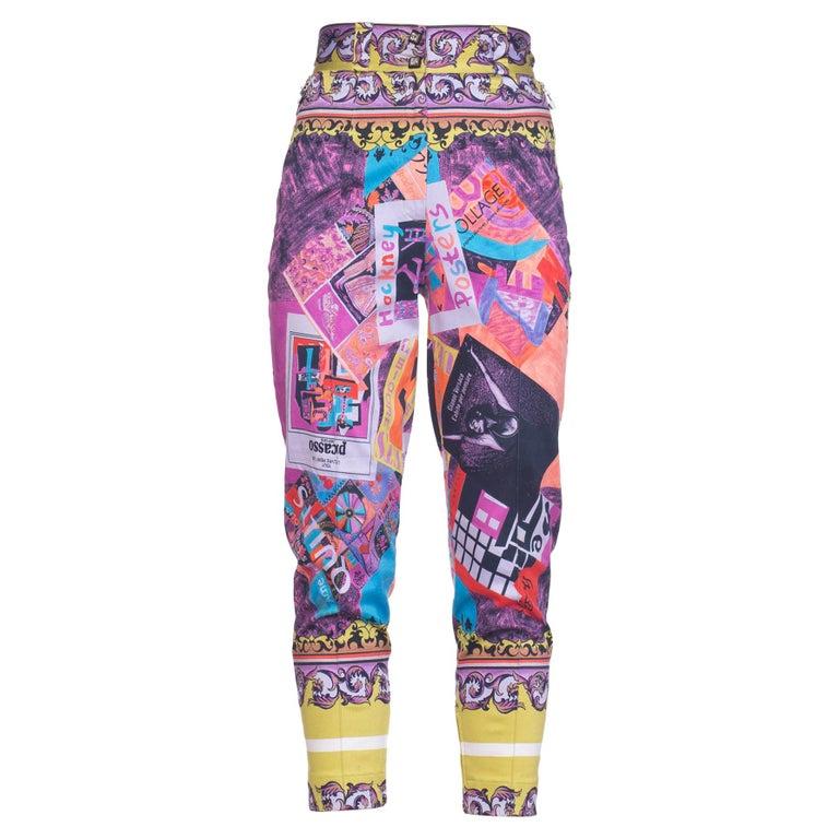 Gianni Versace Spring 1991 Picasso Hockney Artist Print Pants