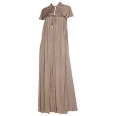 1970s Diane Von Furstenberg Silk Jersey Dress with Hood