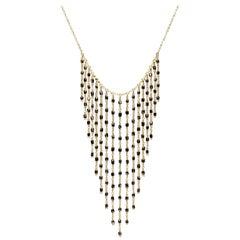 Black Diamond Bead 18K Gold Necklace