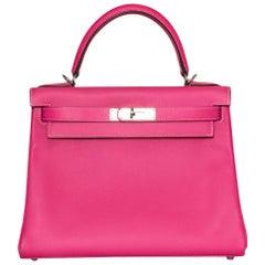 Hermès Rose Tyrien Epsom Leather 28cm Kelly Bag
