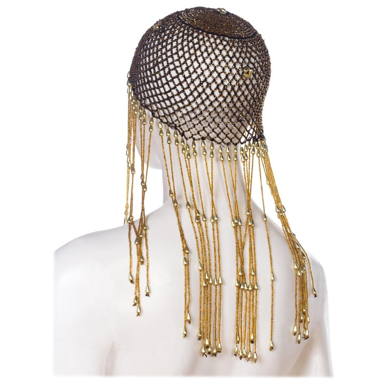 Gucci vintage style beaded head piece
