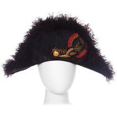 Regal Antique European Formal Military Bicorn Hat