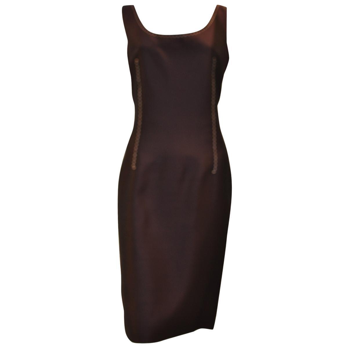 Christian Dior Silk Blend Maroon Dress, Spring 2000
