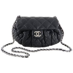 "Chanel Cruise 2011 black lambskin Quilt ""Chain Around"" Flap Bag"