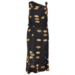 Max Mara Silk Dress with Disc Design 6US