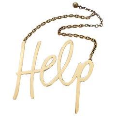 "Lanvin Runway ""Help"" Statement Necklace, Fall 2013"