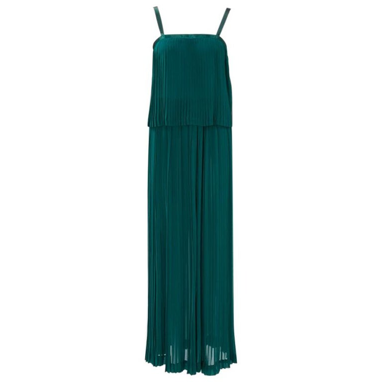 Yves Saint Laurent Pleated Silk Chiffon Ensemble