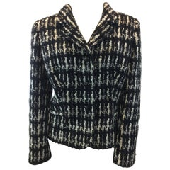 Valentino Black and White Wool Jacket