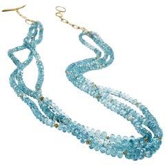 Aquamarine Bead Necklace 18 Karat Gold By Christopher Phelan Fine Jewelry