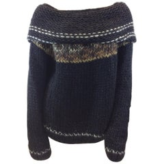 Mes Demoiselles Black Wool Sweater NWT