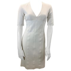 Burberry White Cotton Dress