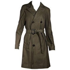 Olive Green Burberry Prorsum Trench Coat