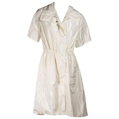 Ivory Lela Rose Short-Sleeve Trench Coat