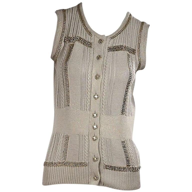 Light Blue Vintage Chanel Knit Vest