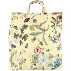 Gucci G-Active Knight Tote Flora Canvas Tall i