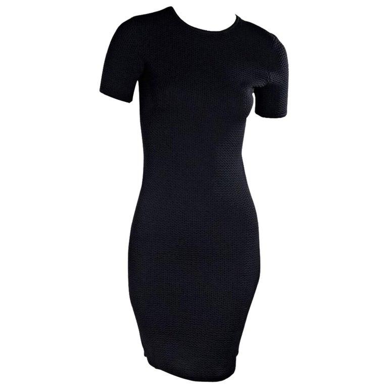 Navy Blue Alexander Wang Sheath Dress