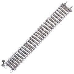 Handmade Silver Nigeria Ball Design Link Bracelet