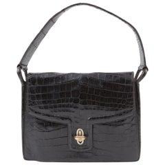 1945s Black Hermes Regain Hand Bag